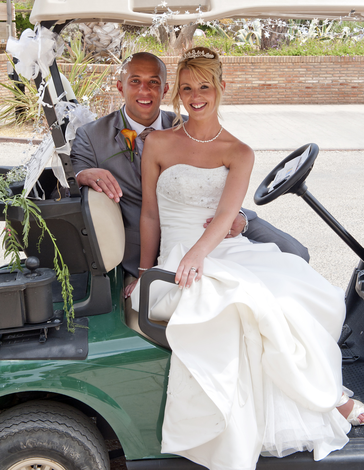 Golf Carts wedding planning